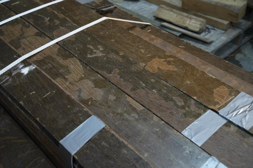 Lot of about 28 m2 of linear oak parquet flooring-6