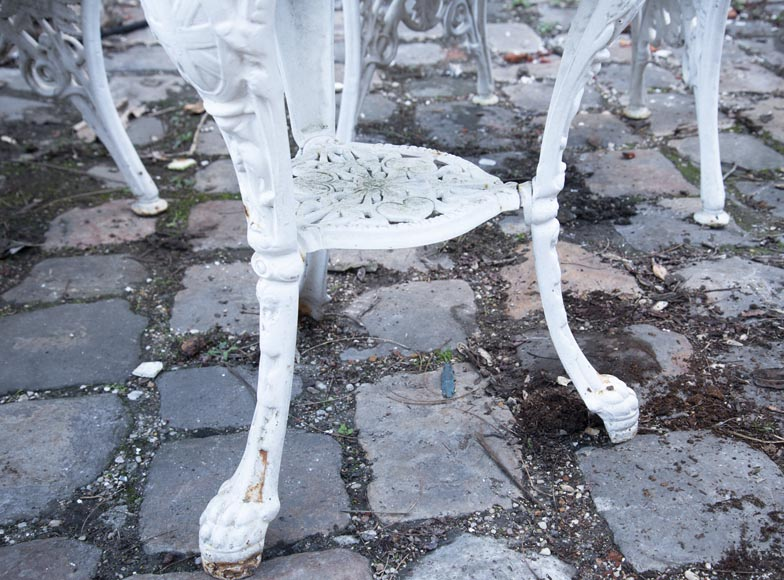 Antique garden furniture, made of cast iron with plant decoration-13