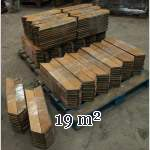 Lot of about 19 m2 of antique Point de Hongrie oak parquet flooring