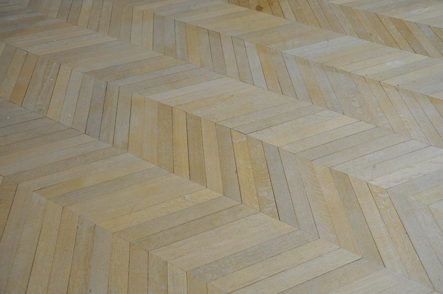 Lot of 15 m2 of antique Point de Hongrie oak parquet flooring-3