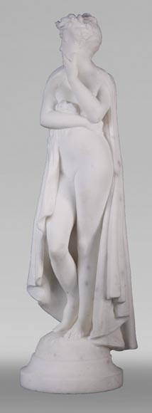 Albert CARRIER-BELLEUSE (1824-1887) - Young woman in statuary marble-1