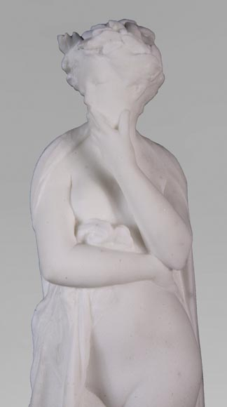 Albert CARRIER-BELLEUSE (1824-1887) - Young woman in statuary marble-2