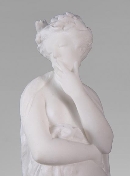 Albert CARRIER-BELLEUSE (1824-1887) - Young woman in statuary marble-3
