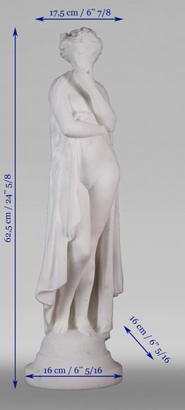 Albert CARRIER-BELLEUSE (1824-1887) - Young woman in statuary marble-8