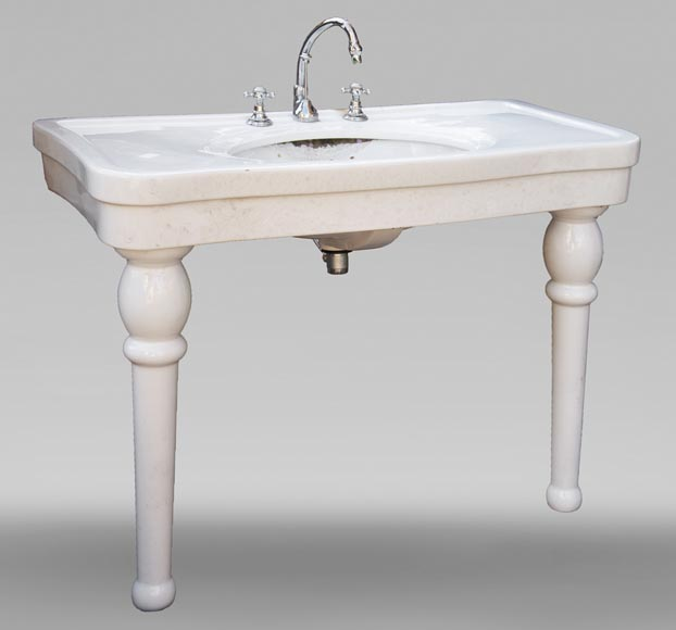 Two-footed earthenware washbasin-1