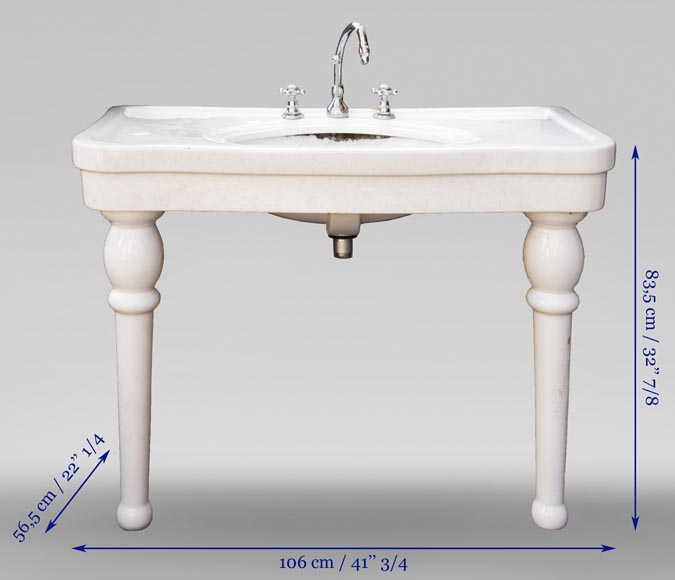 Two-footed earthenware washbasin-7