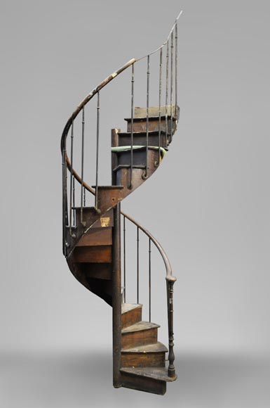 Rare Oak spiral staircase, 19th century-0