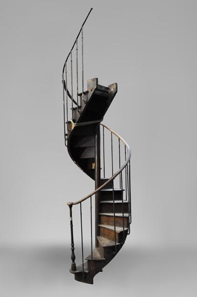 Rare Oak spiral staircase, 19th century-1