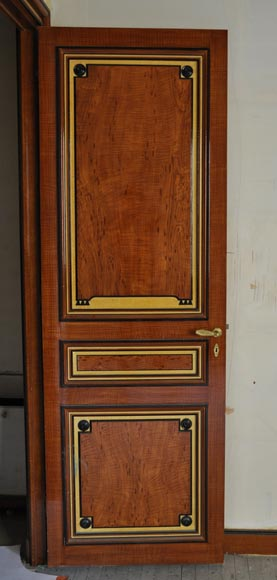 Pair of late 20th century Art Deco style wood trompe l'oeil doors -4