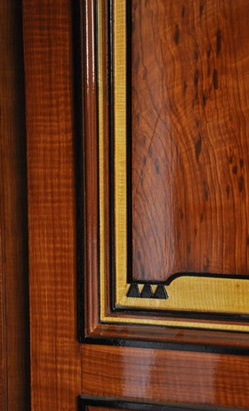 Pair of late 20th century Art Deco style wood trompe l'oeil doors -6