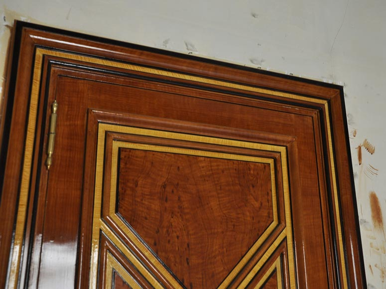 Pair of late 20th century Art Deco style wood trompe l'oeil doors -9