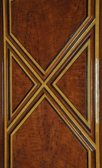 Pair of late 20th century Art Deco style wood trompe l'oeil doors -10