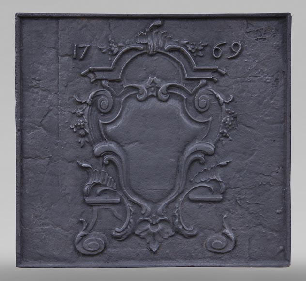 Louis XV period fireback, dated 1769-0