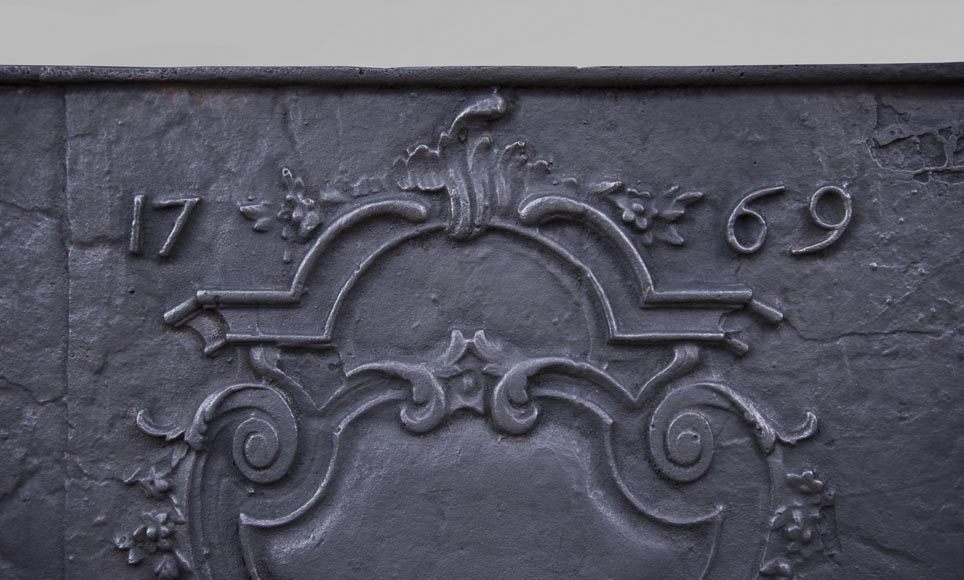 Louis XV period fireback, dated 1769-1