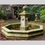 Important modern stone outdoor fountain