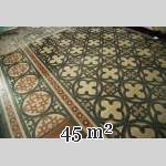 Old cement tile floor