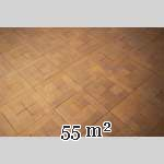Lot of 55 m2 of square oak parquet flooring