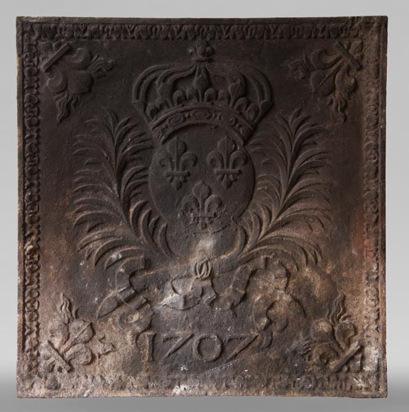 Cast iron fireback from the XIXth century at the Armes de France-0