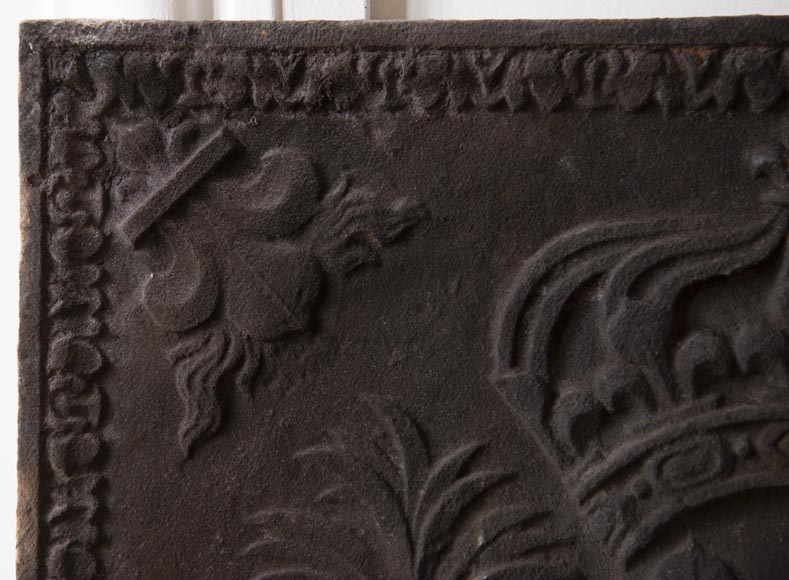 Cast iron fireback from the XIXth century at the Armes de France-2