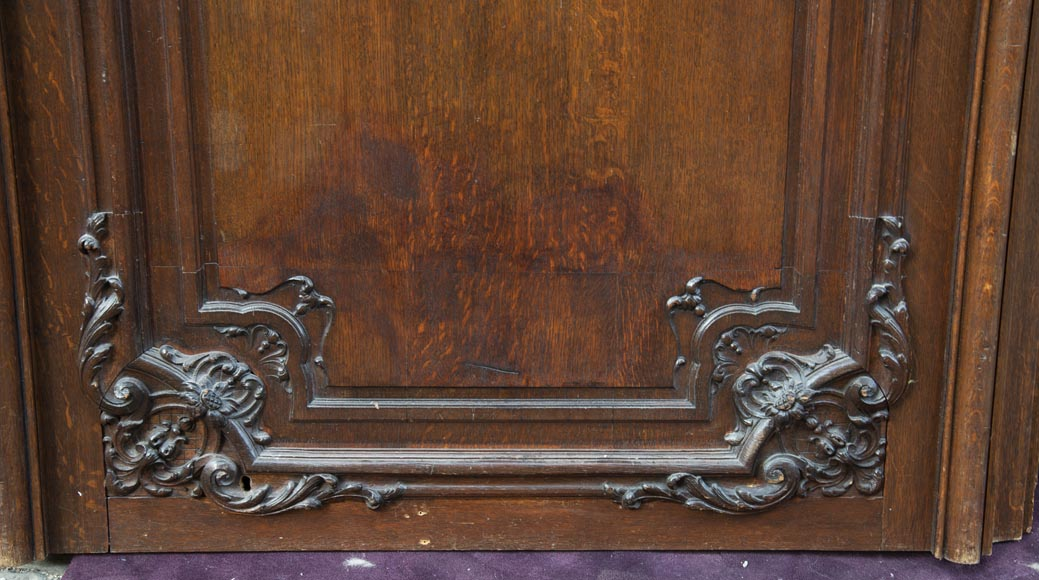 Set of carved oak panelling from the end of the 19th century-7
