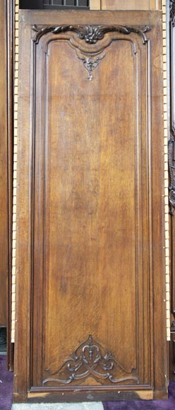 Set of carved oak panelling from the end of the 19th century-15