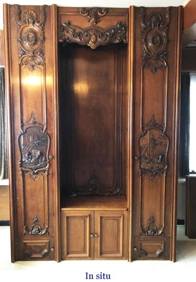 Set of carved oak panelling from the end of the 19th century-18