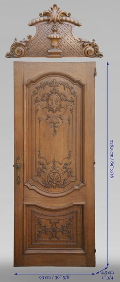 Important carved oak panelling from the 19th century-11