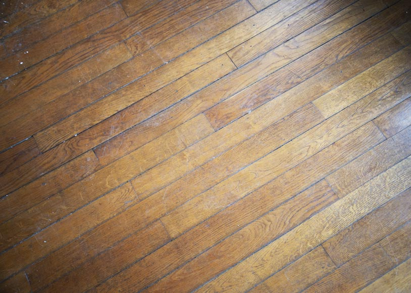 Lot of old oak parquet flooring with a surface area of 13 m2-0