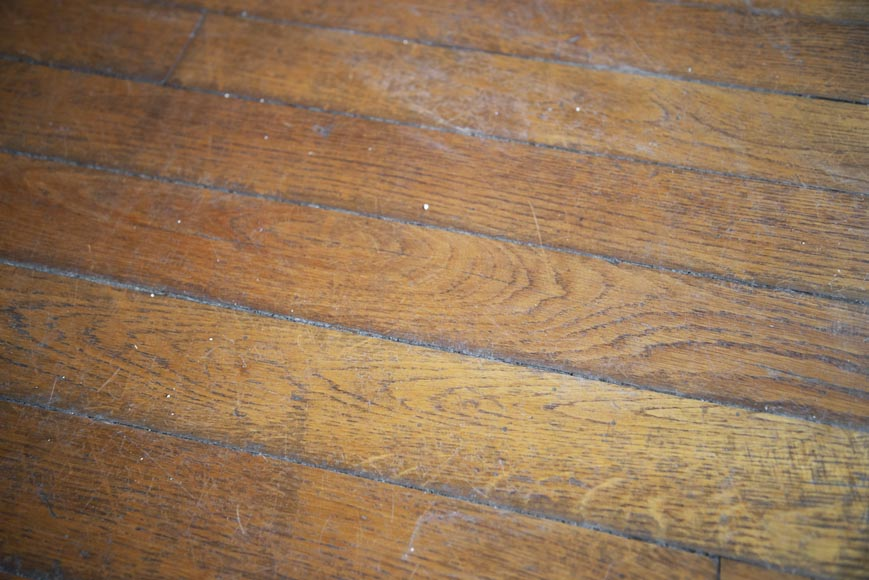 Lot of old oak parquet flooring with a surface area of 13 m2-3