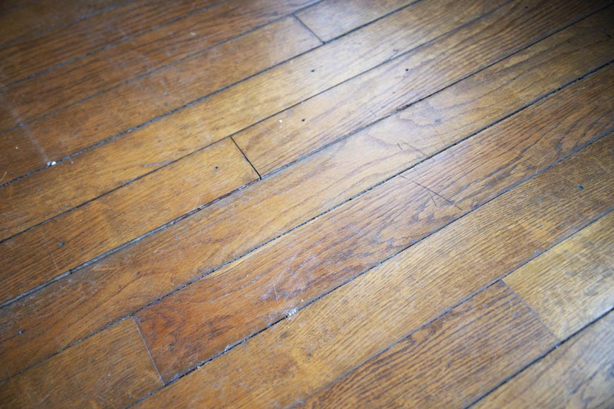 Lot of old oak parquet flooring with a surface area of 13 m2-4