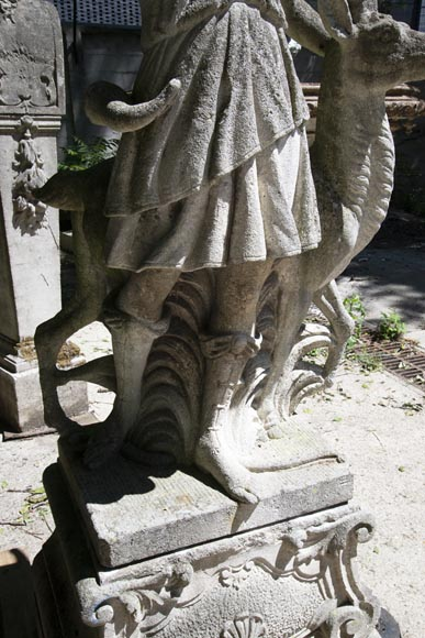 Diana the Huntress stone garden statue from Florence-6