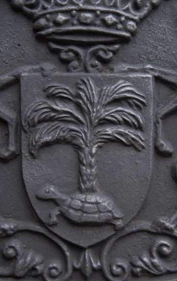 Fireback with the coat of arms