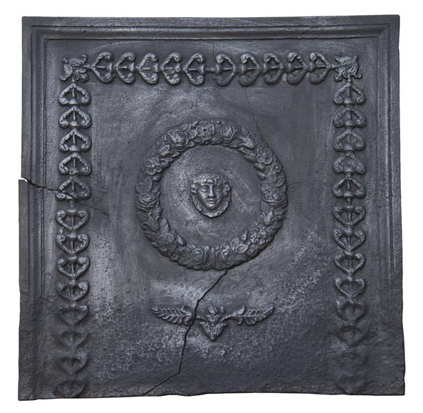Antique fireback of Empire style-0