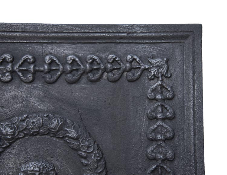 Antique fireback of Empire style-2