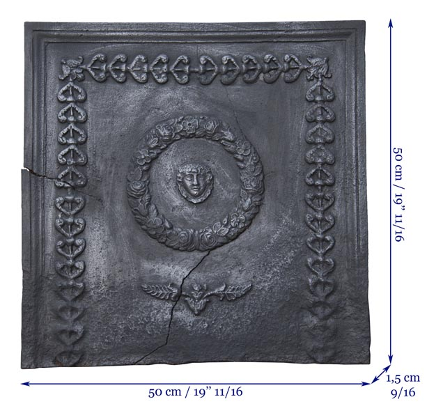 Antique fireback of Empire style-5