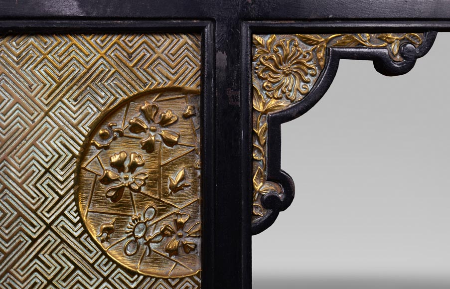 Thomas Jeckyll (1827 - 1881) - Stove front made of bronze and cast iron-4