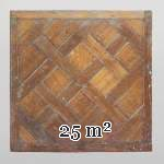 Lot of 25 m2 of 18th century Versailles oak parquet flooring