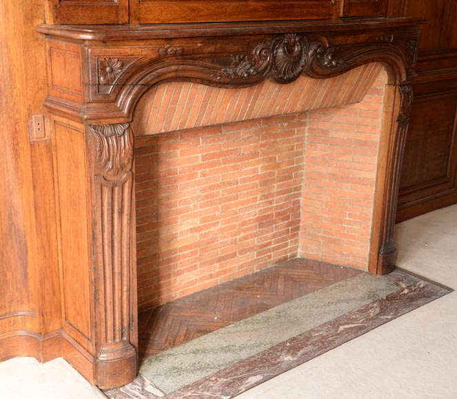 Carved oak woodwork transition style, end of the 19th century-2