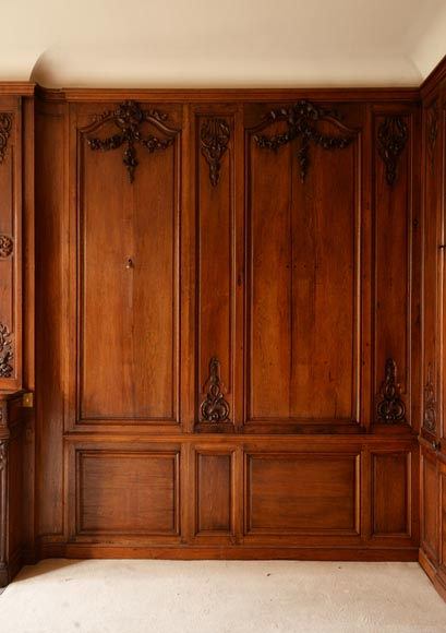 Carved oak woodwork transition style, end of the 19th century-4