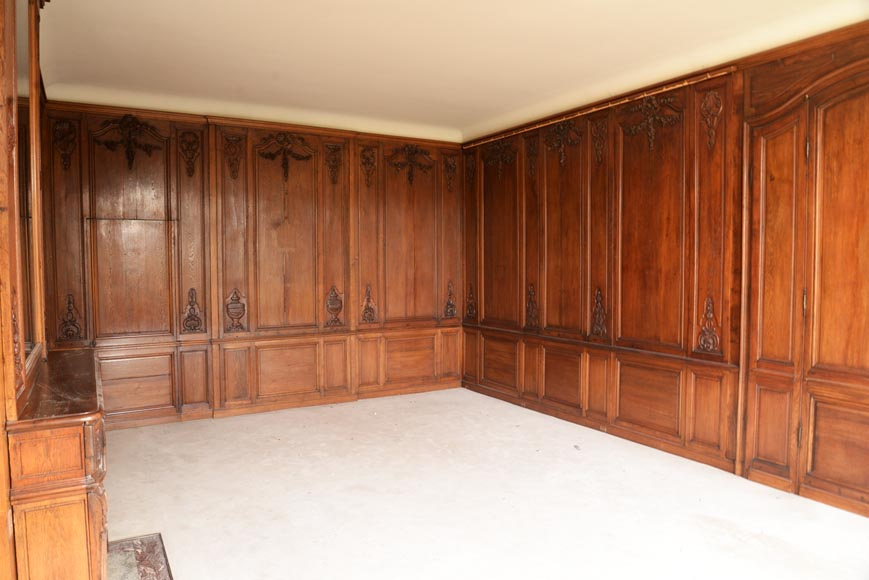 Carved oak woodwork transition style, end of the 19th century-5