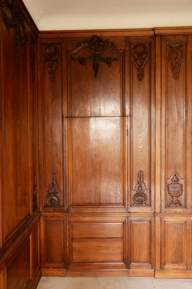 Carved oak woodwork transition style, end of the 19th century-6