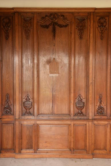 Carved oak woodwork transition style, end of the 19th century-7