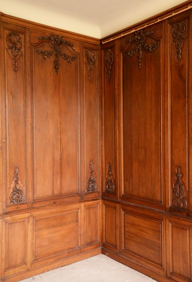 Carved oak woodwork transition style, end of the 19th century-8
