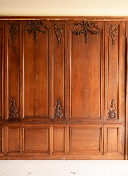 Carved oak woodwork transition style, end of the 19th century-13
