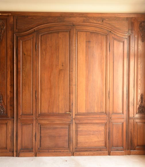 Carved oak woodwork transition style, end of the 19th century-16