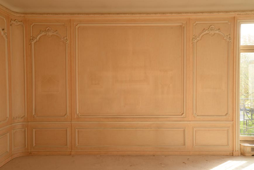 Two Louis XV style paneled rooms, end of the 19th century-10