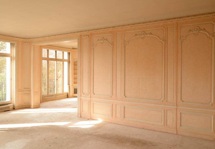 Two Louis XV style paneled rooms, end of the 19th century-13