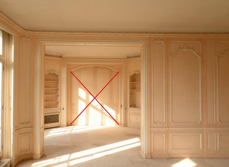 Two Louis XV style paneled rooms, end of the 19th century-14