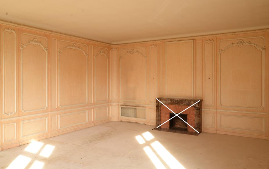 Two Louis XV style paneled rooms, end of the 19th century-15
