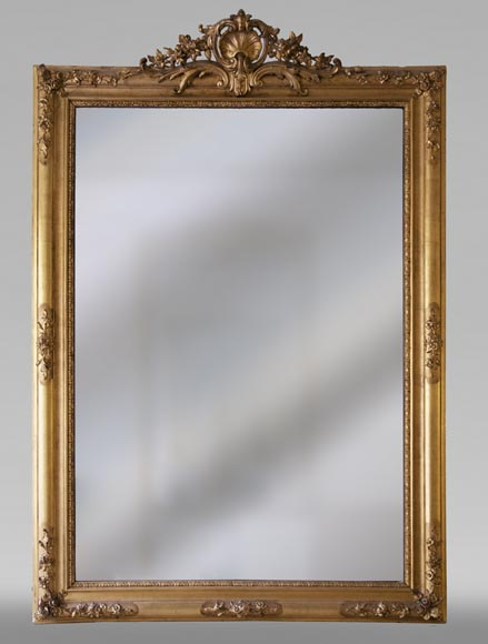 Antique gilded trumeau in the Louis XVI style-0